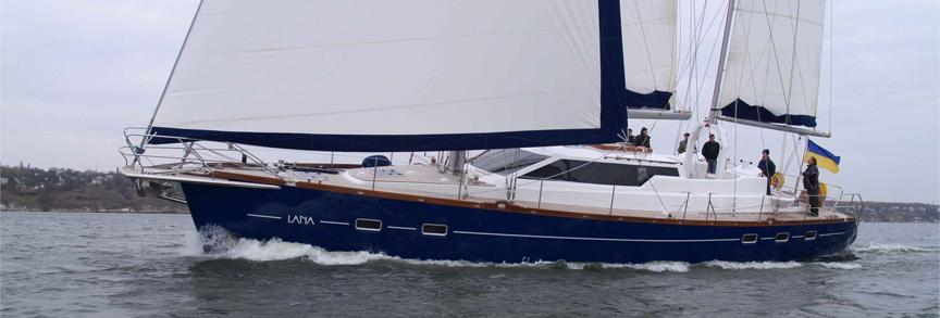 Парусно-моторная яхта Lana
